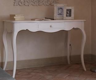 Scrivania In Legno Bianco : Honoré scrivania di design in legno e mdf dotata di cassetti e