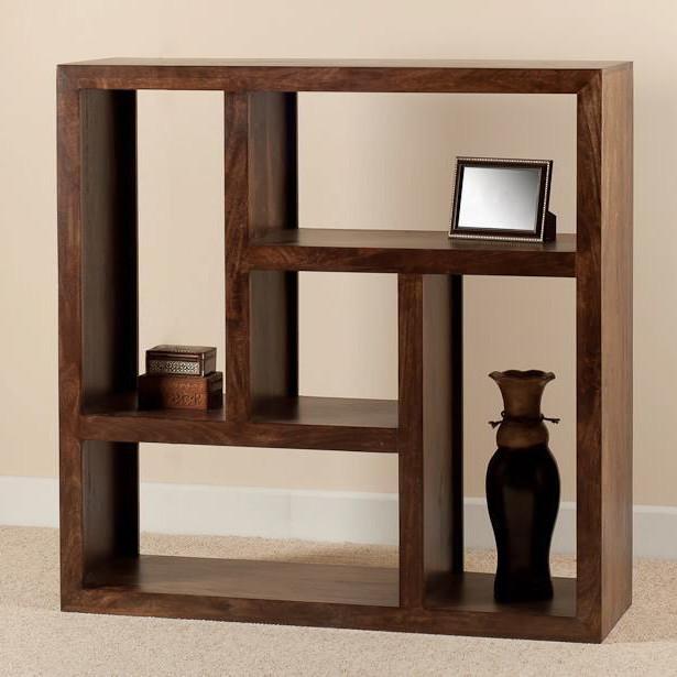 Libreria etnica cubo legno massello Outlet mobili etnici offerte