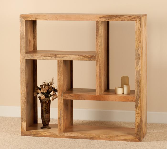 Libreria etnica cubo legno naturale outlet mobili etnici - Tasselli in legno per mobili ...