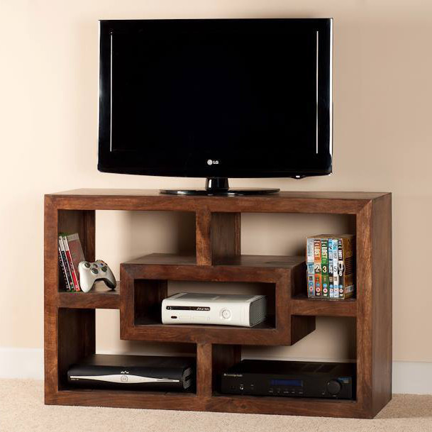 Mobile porta tv etnico legno col noce outlet mobili etnici for Center mobili outlet