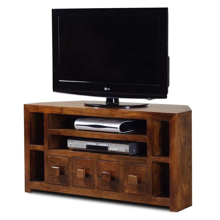 Mobile porta tv etnico legno ad angolo outlet mobili etnici - Mobile porta tv etnico ...