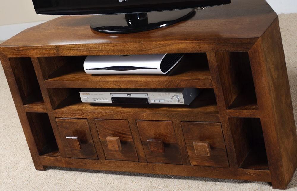 Mobile porta tv etnico legno ad angolo outlet mobili etnici for Costruire porta tv