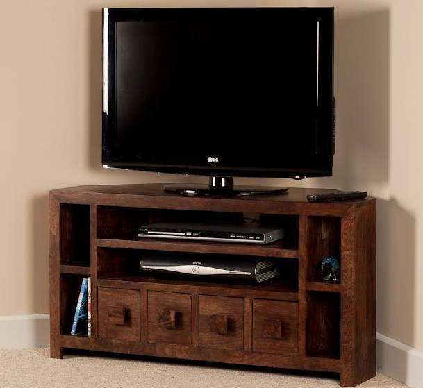 Mobile porta tv etnico legno ad angolo outlet mobili etnici - Mobili angolari per tv ...