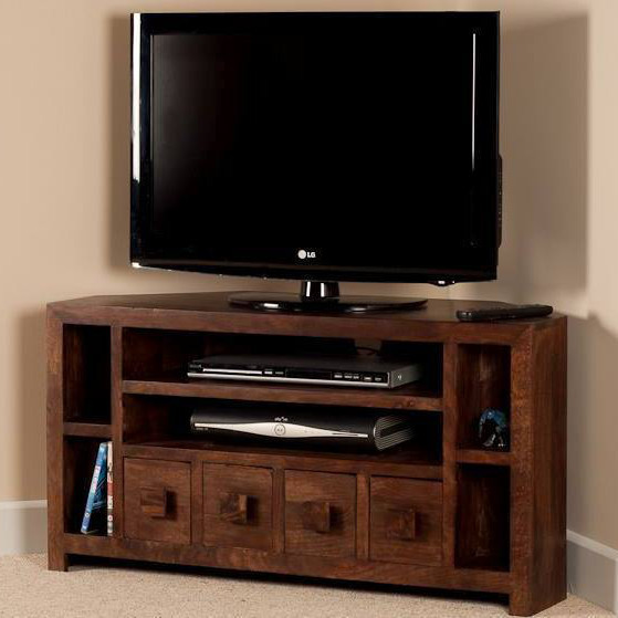 Mobile porta tv etnico legno ad angolo outlet mobili etnici - Ikea porta tv angolare ...