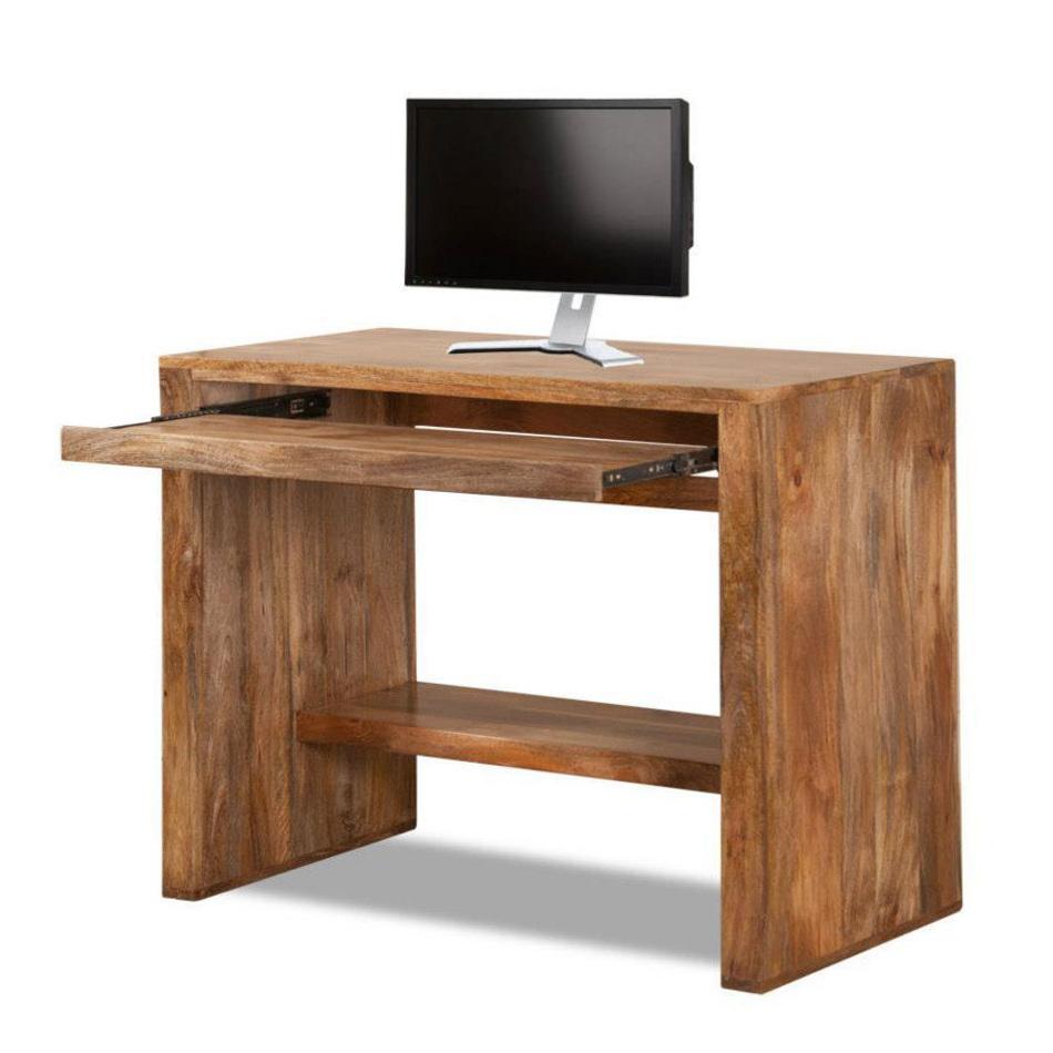 Scrittoio etnico porta computer legno naturale scrivanie for Mobili per computer