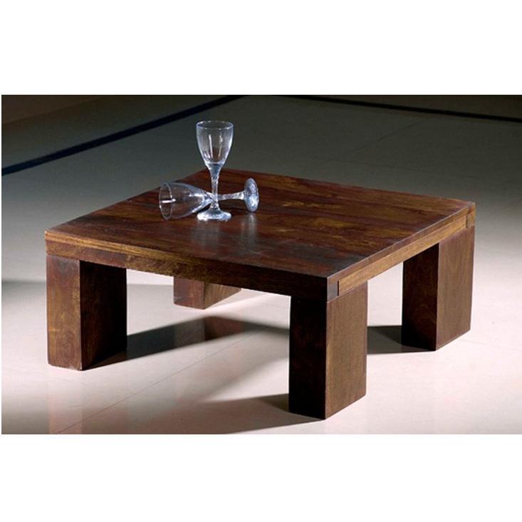 TAVOLO ETNICO QUADRATO tavoli bassi in legno massello etnici ETHNS13 ...