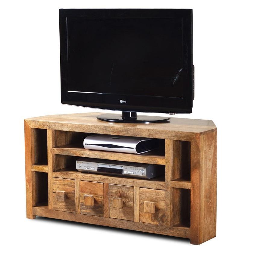 Mobile porta tv etnico legno ad angolo mobili su misura - Mobile ad angolo ...