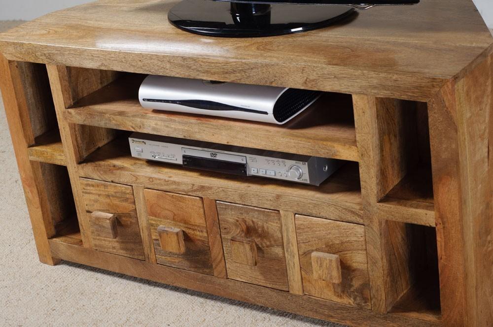 Mobile porta tv etnico legno ad angolo mobili su misura vintage - Mobili per tv ad angolo ...