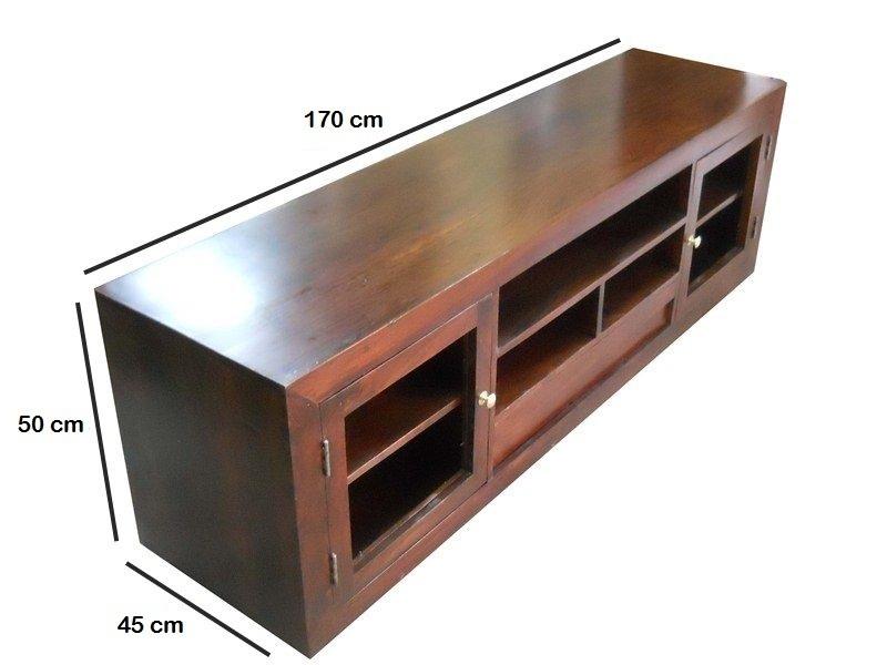 Mobile porta tv legno ante vetro mobili etnici prezzi online - Mobili per tv in legno ...