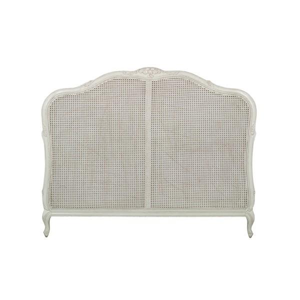 Testata letto bianca shabby chic ethnic chic mobili provenzali for Divano letto shabby chic