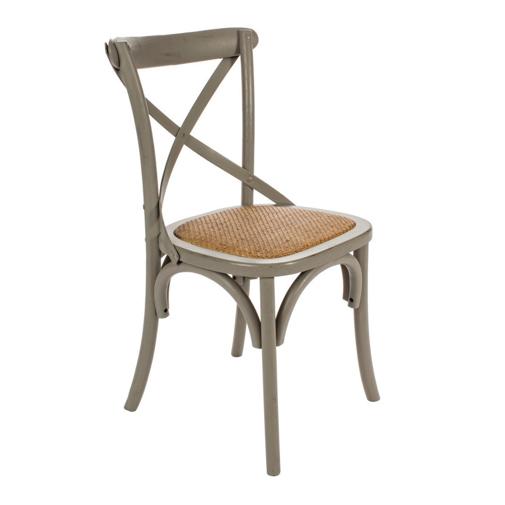 Sedia legno olmo grigio shabby sedie provenzali offerte online for Sedie design outlet online