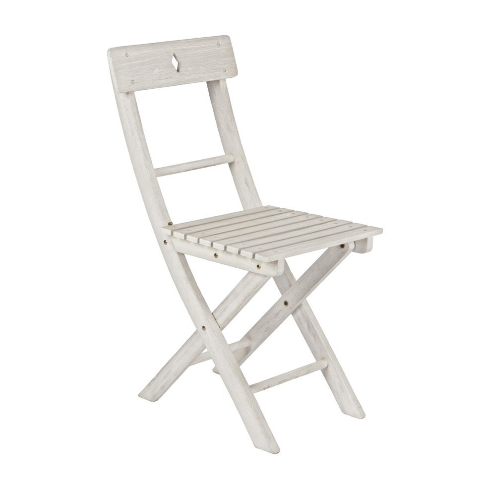 Sedia legno pieghevole bianco shabby offerte online