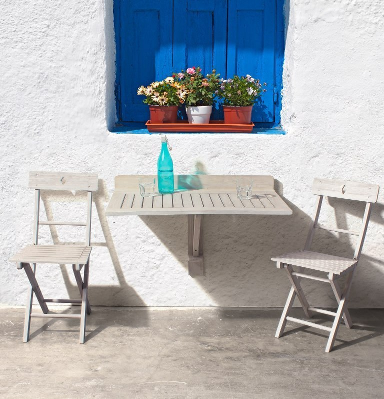 Sedia legno pieghevole bianco shabby offerte online for Offerte set tavolo da giardino