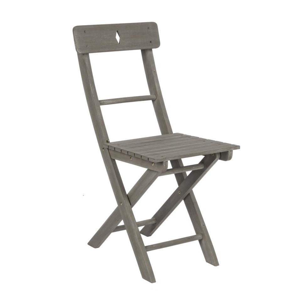 Sedia legno pieghevole grigio anticato offerte online for Sedie offerte on line