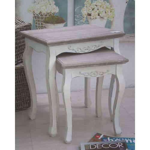 Tavolino Salotto Provenzale.Set 2 Tavolini Salotto Provenzale