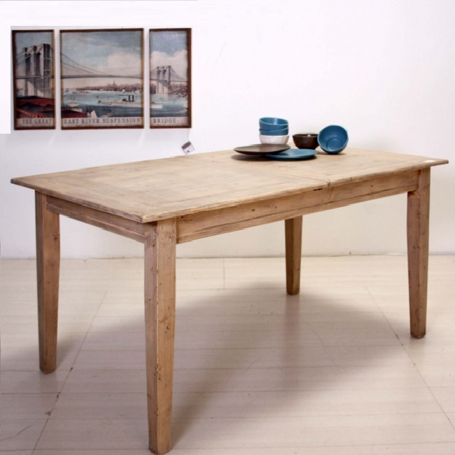 Tavolo etnico legno naturale etnico outlet mobili etnici for Tavolo legno naturale