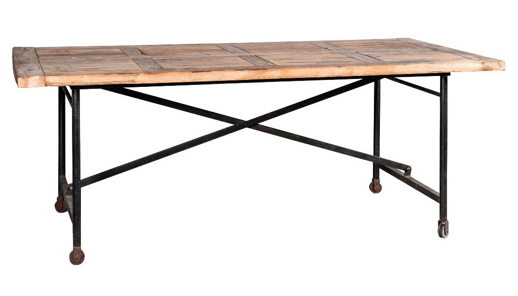 tavolo legno vintage base ferro mobili sconti vendita online