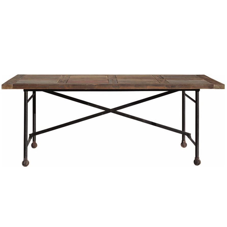 Tavolo legno vintage base ferro mobili sconti vendita online for Tavolo legno e ferro