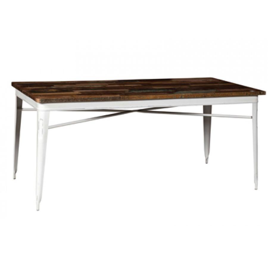 Tavolo legno industrial bianco mobili sconti vendita online - Mobili legno bianco anticato ...