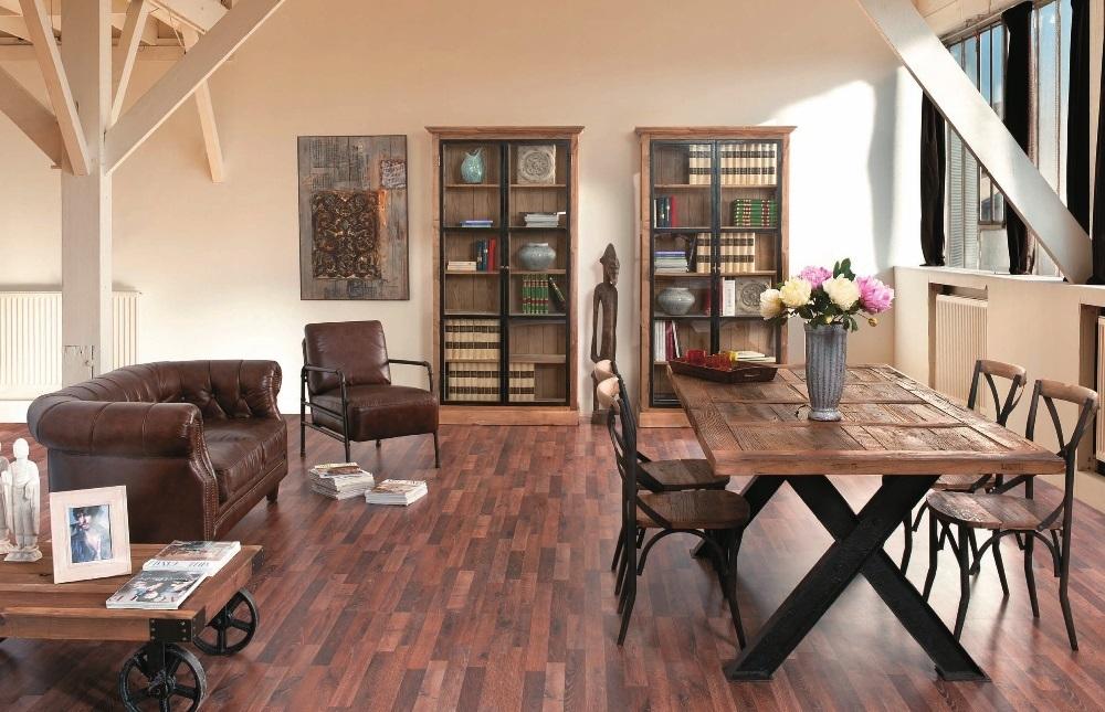 Tavolo legno vintage base ferro mobili sconti vendita online for Sedie in ferro e legno
