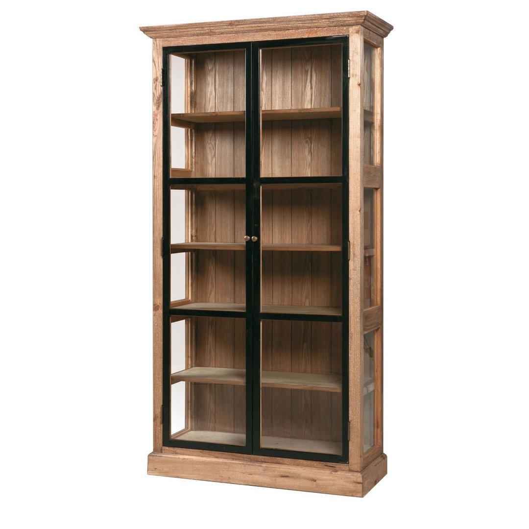 Vetrina industrial in legno e ferro offerte e sconti online - Mobili in ferro ...