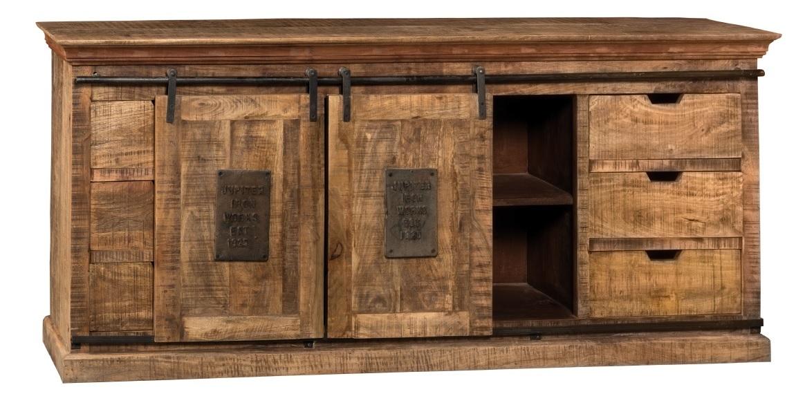 Credenza newport in legno naturale mobili stile industriale for Credenza industriale