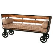 Tavolo vintage base ferro mobili vendita online for Divano legno esterno