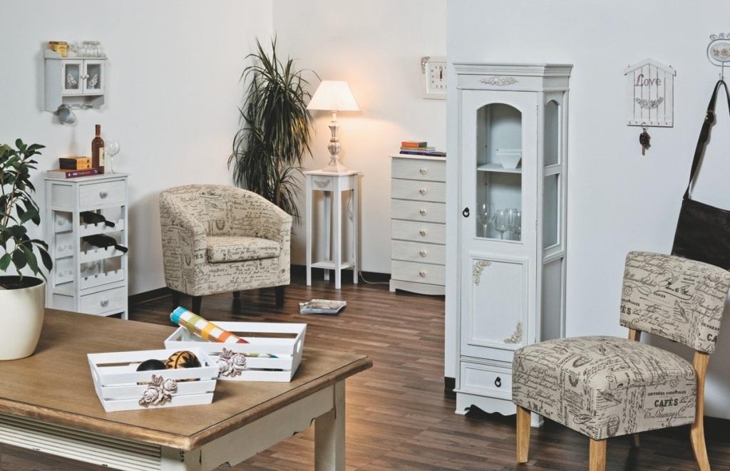 Scrivania provenzale bianca con cass etnico outlet mobili for Salotti bianchi