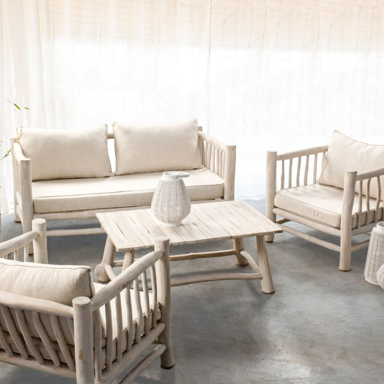 Salotto bianco shabby chic - Etnico Outlet Mobili Etnici