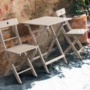 Panchina legno bianco shabby etnico outlet mobili etnici - Tavolo e sedie shabby ...