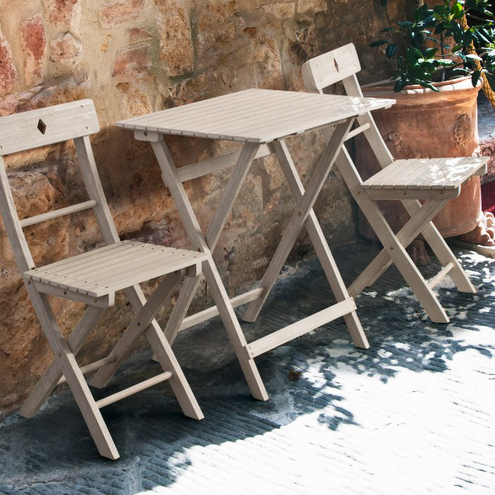 Set tavolo e sedie giardino bianco shabby offerte online
