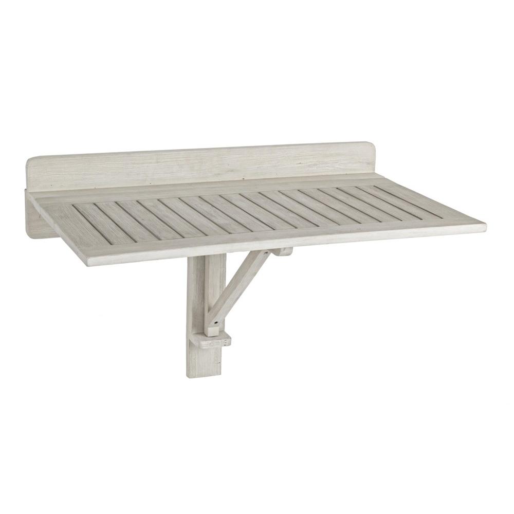 Set tavolo e sedie giardino bianco shabby offerte online - Tavolo da muro pieghevole ...