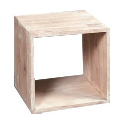 Cubo legno bianco shabby etnico outlet mobili etnici for Cubi in legno per arredare