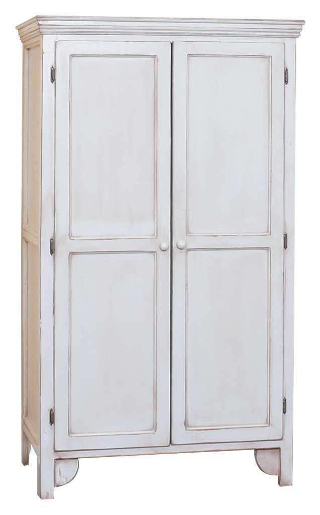 Armadio legno bianco shabby mobili bianchi for Armadio bagno bianco
