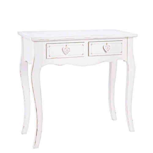 Consolle shabby chic bianca