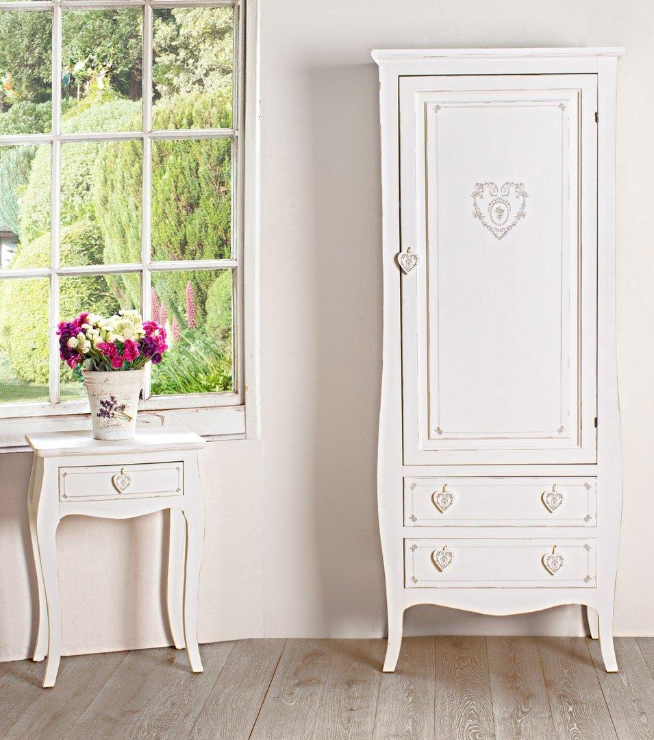 Armadio legno bianco shabby armadi shabby online for Armadio bagno bianco