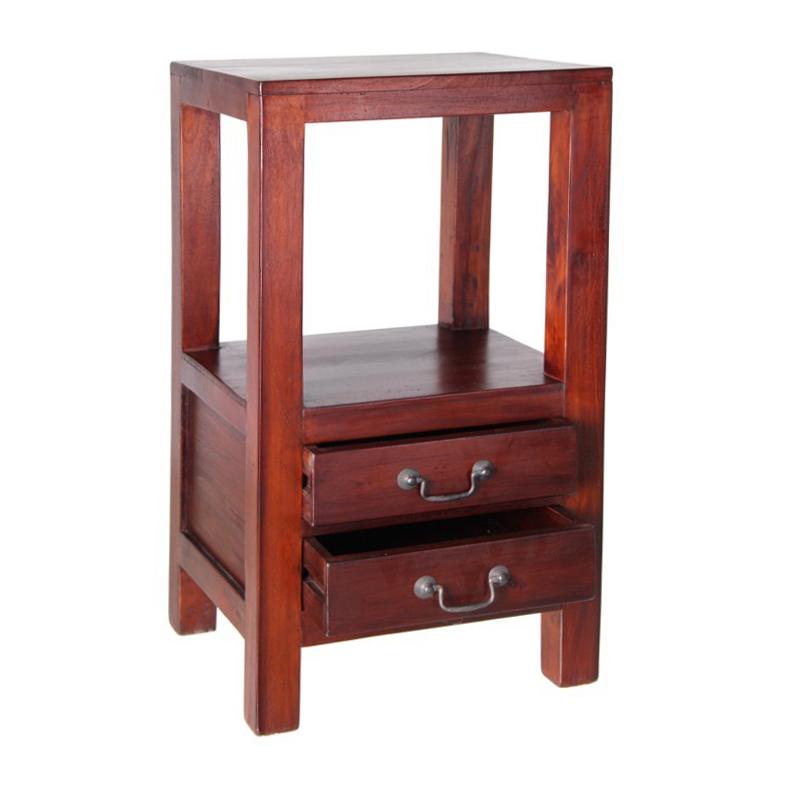 Comodino etnico in legno mogano mobili etnici provenzali - Mobiletti in legno ...