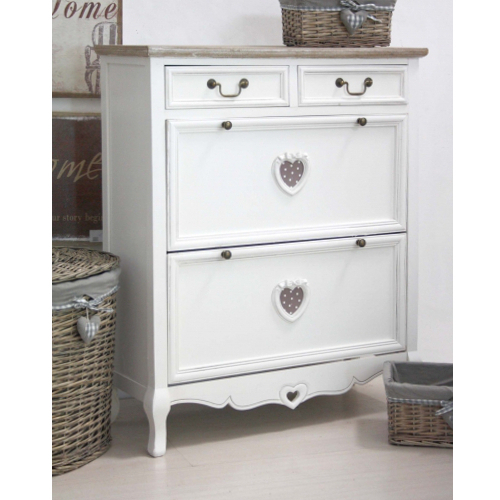 Scarpiera legno bianco shabby francese etnico outlet for Scarpiera shabby chic