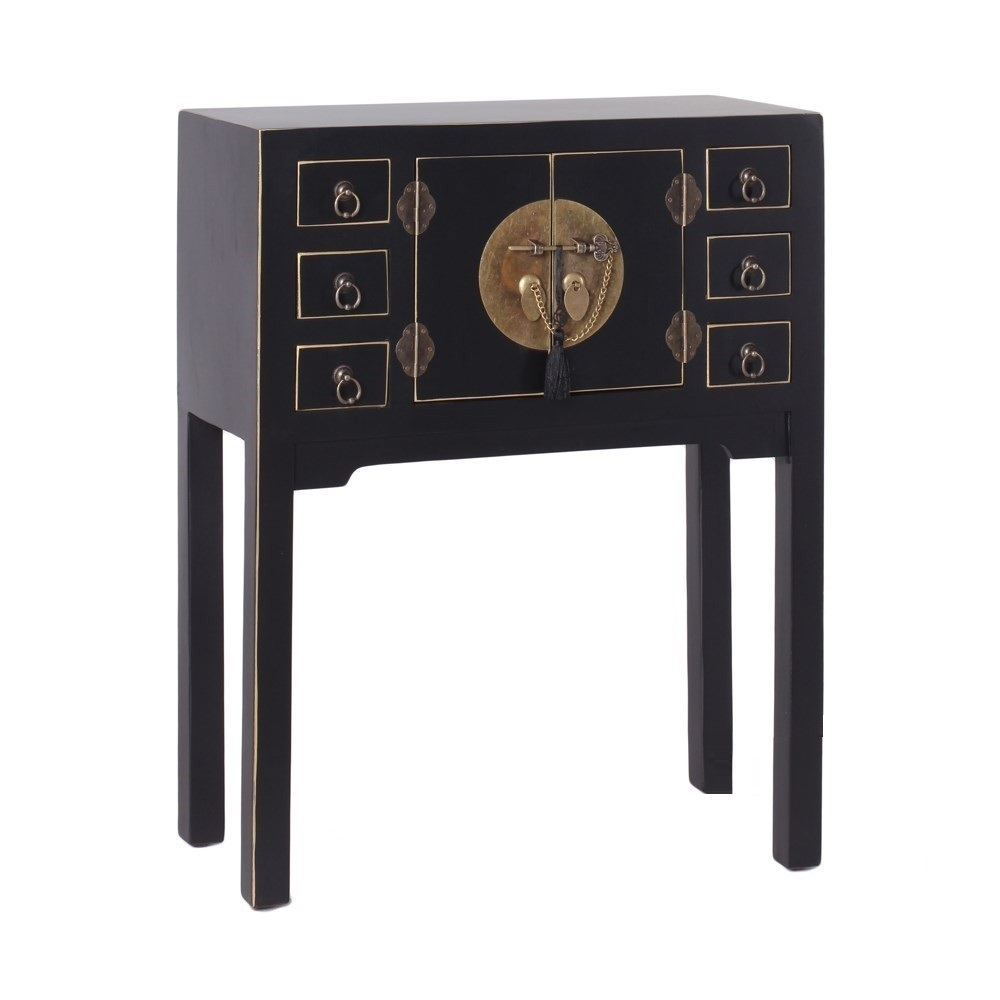Consolle cinese color nero moibli orientali online for Muebles chinos outlet
