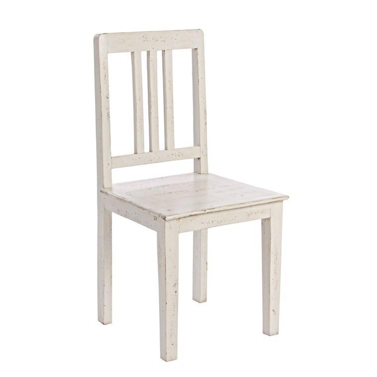 Sedia bianca anticata sedie decapate online - Sedia legno bianca ...