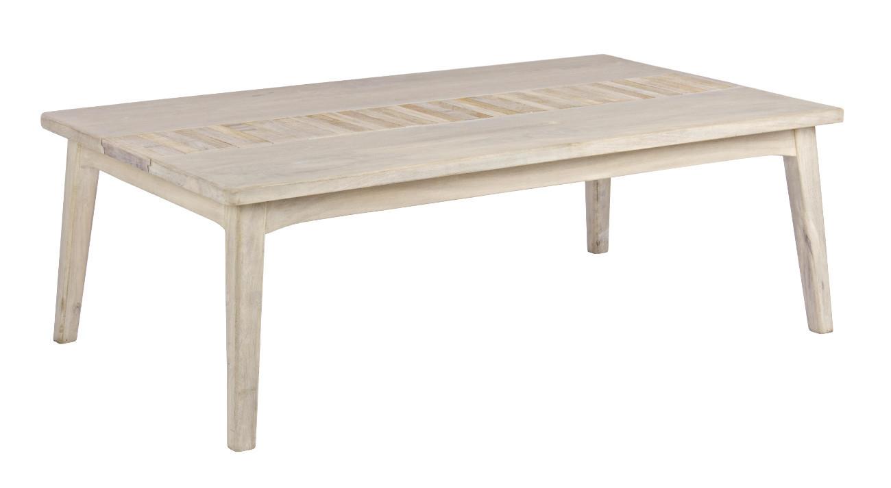 Tavolo basso etnico legno naturale - Etnico Outlet mobili etnici