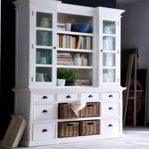 vetrina libreria provenzale bianca n prodotto nsbca600 vetrina ...