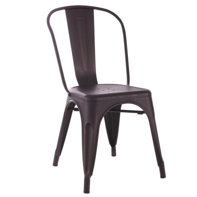 Sedia ferro vintage sedie industrial online for Sedie ferro legno