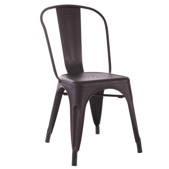 Sedia ferro vintage sedie industrial online for Sedie in ferro e legno