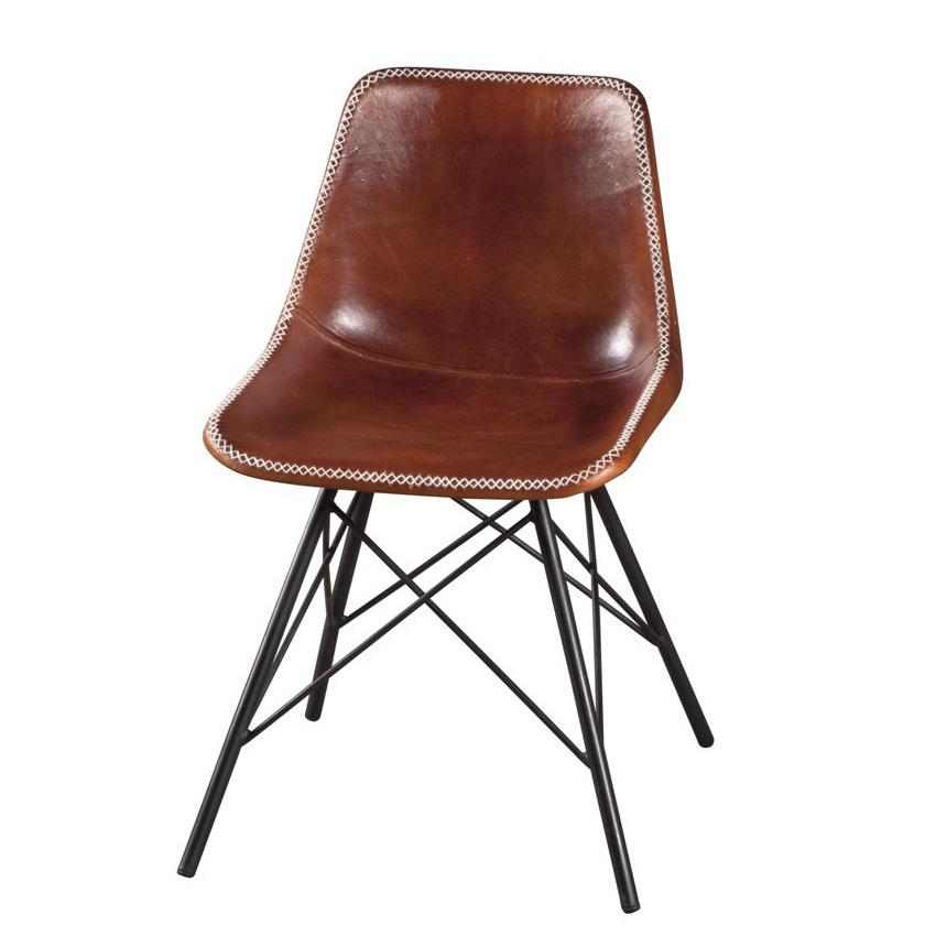 sedia ferro e cuoio industrial sedie stile industriale online