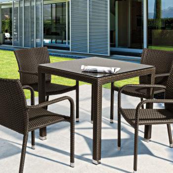 Tavolo da giardino in polyrattan mobili etnici giardino for Outlet mobili da giardino