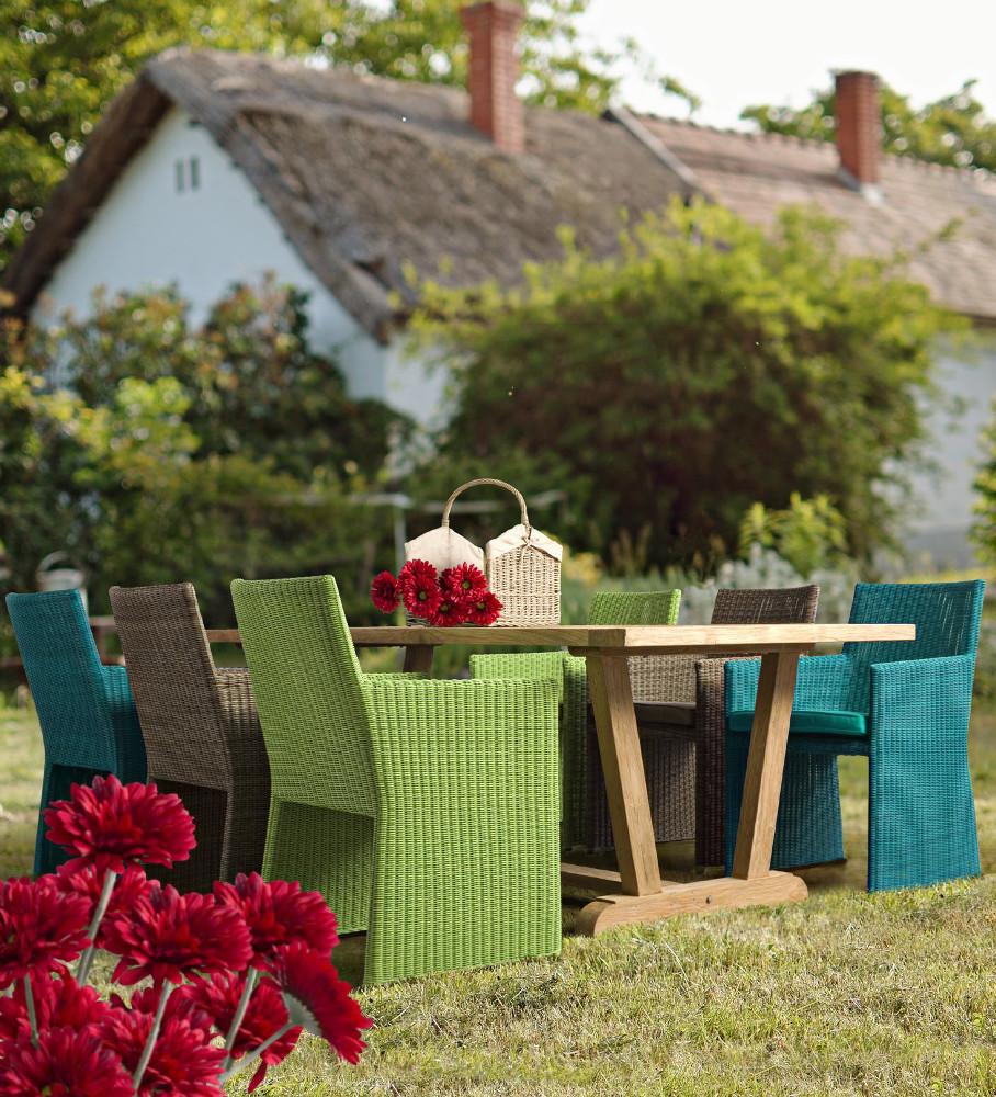 Sedia polyrattan da giardino marrone outlet mobili giardino for Outlet giardino