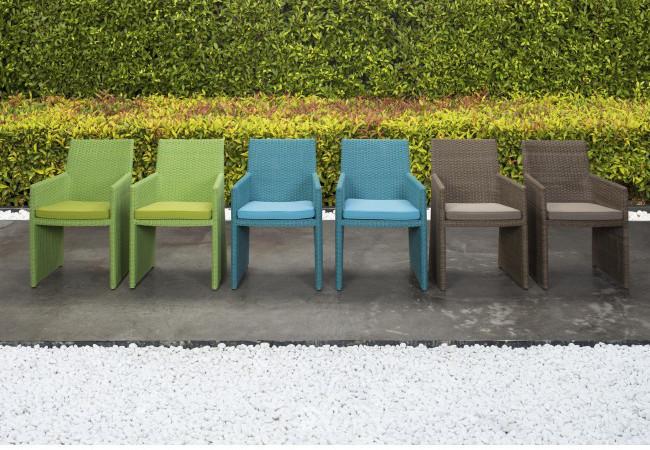 Sedia polyrattan da giardino marrone outlet mobili giardino for Outlet mobili da giardino