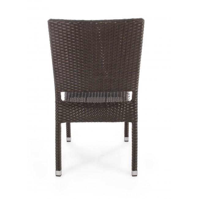 Sedia da giardino impilabile brown mobili etnici provenzali for Outlet mobili da giardino