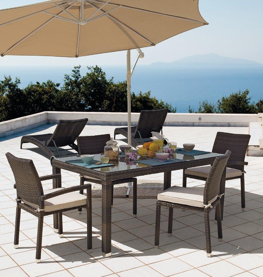 Sedia da giardino impilabile brown etnico outlet mobili for Outlet mobili da giardino